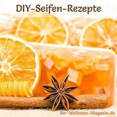 DIY-Rezept für Duftseife aus nur 3 Zutaten, nachfolgend ein Rezept für eine fruchtig-frische Orangenseife ...