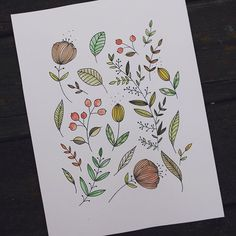 Autumn is my favorite time in Finland. It's hard to believe that this one is going to be my fourth one. #handmade #handicraft #DIY #watercolor #watercolorart #watercolour #watercolorpainting #illustration #drawing #painting #etsy #etsyseller #etsyshop #etsyfinds #pattern #flowers #floral #ornament #helsinki #finland #design #stationery #art #stationeryfinds #piirustus