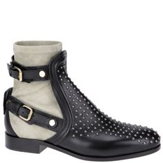 #Chloé studded ankle boot with buckles and grey suede sock. Autumn winter 2013. www.wunderl.com