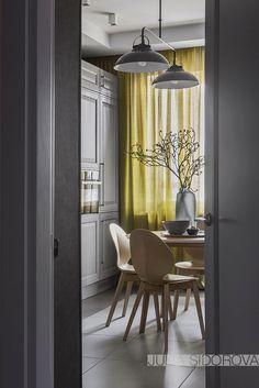 Eleganță contemporană în tonuri de gri pentru un apartament de 108 m² din Moscova Jurnal de design interior Interior House Colors, Cafe Interior, Design Interior, Living Room Grey, Living Room Decor, Design Studio, House Design, Rooms Ideas, Simple Furniture