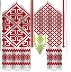 Ravelry: Variation on a mitten from Oppland pattern by Mijauw Knitted Mittens Pattern, Knit Mittens, Knitting Socks, Mitten Gloves, Hand Knitting, Cross Stitch Kits, Cross Stitch Patterns, Knitting Charts, Knitting Patterns