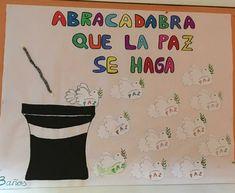 Este mágico mural realizado por los niños de 3 años de Comendadoras de Santiago de Madrid . Peace Crafts, Teaching, School, Ideas, School Projects, Social Equality, Diy Creative Ideas, Infant Activities, Infant Crafts