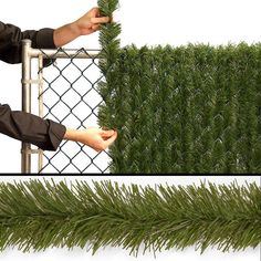 National Tree Company InstaBlock Artificial Hedge Fence Braid, Green