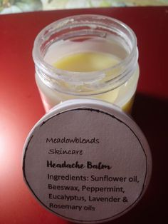 All Natural Headache Relief Balm- Homeopathic Remedies, Health Remedies, Home Remedies, Natural Headache Relief, Sinus Relief, Homemade Skin Care, Sunflower Oil, Aromatherapy