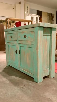 House Furniture Design, Deco Furniture, Recycled Furniture, Furniture Makeover, Home Furniture, Narrow Kitchen Island, Shabby Chic Storage, Chalk Paint Furniture, Distressed Furniture