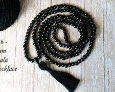 Christmas Gift, LONG Tassel Necklace, Mala bead, 216 Mala, Mala Necklace, Mala for Man, Tassel Necklace, Tassel Mala, Buddhist Jewelry