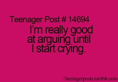 Why can't I argue like a normal person :P