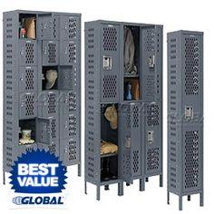 Global Infinity Heavy Duty Ventilated Steel Lockers