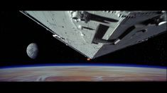 An Imperial Star Destroyer pursues Princess Leia's diplomatic consular ship (IV: A New Hope)