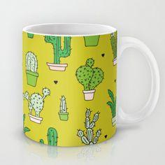 Botanical dessert cactus pattern Mug by Little Smilemakers Studio - $15.00