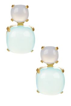 candela jewelry Aqua chalcedony dangle earrings $125.00