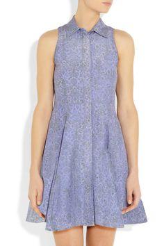 Markus Lupfer|Flared printed silk mini dress|NET-A-PORTER.COM