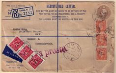 European post-war air mail.