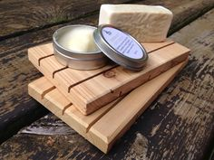 One LARGE Cedar Natural Wood Spa Soap Deck 4 by PineBranchDesigns