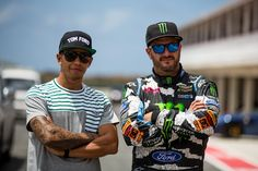 Two Great #Champion putting on a Great show. #KenBlock VS #LewisHamilton