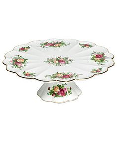 Royal Albert Serveware, Old Country Roses Cake Stand - Serveware - Dining & Entertaining - Macy's