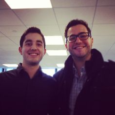Account Manager Nadav Farahan with his brother, who stopped by on Nadav's birthday.