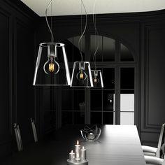 BABU   rendl light studio    Pendel med glasskärm och en takkåpa i krom. #pendel #lampa #glasskärm Ceiling Lights, Lighting, Studio, Home Decor, Life, Corning Glass, Decoration Home, Light Fixtures, Room Decor