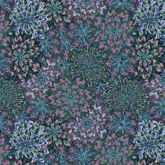 a_floral_tapestry- blue moon fabric by glimmericks on Spoonflower - custom fabric