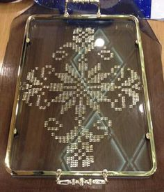 Bargello, Kids And Parenting, Handicraft, Diy And Crafts, Cross Stitch, Tray, The Originals, Home Decor, Salons