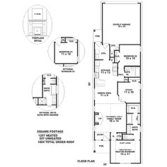 Southern Style House Plan - 3 Beds 2 Baths 1297 Sq/Ft Plan #81-187 Floor Plan - Main Floor Plan - Houseplans.com