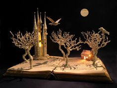 For the love of Books...Book Sculpture by Su Blackwell.