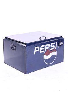 Vintage style Pepsi cooler.