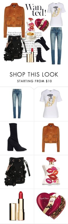 """Casual Weekend"" by stylish-sparkles ❤ liked on Polyvore featuring Yves Saint Laurent, Versace, Yeezy by Kanye West, Miu Miu, Marina Hoermanseder, Bond No. 9, Clarins and Caffé"