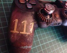 Custom Fallout Damaged inspired PS4 by NebulaCustomGaming on Etsy
