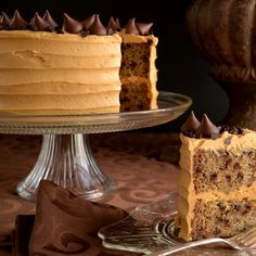 Banana-Chocolate Chip Cake with Peanut Butter Frosting│Recipe & story.
