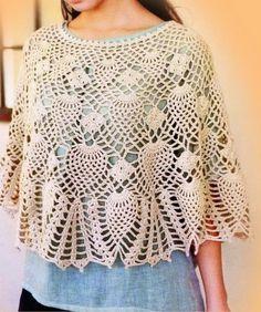 Crochet-Lace-Poncho+pattern+P21+(1).jpg 700×839 pixeles