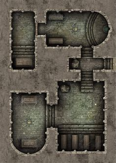 Dungeon Room, Dungeon Tiles, Dungeon Maps, Dungens And Dragons, Dungeons And Dragons Art, Fantasy Map, Medieval Fantasy, Adventure Map, Fantasy Miniatures