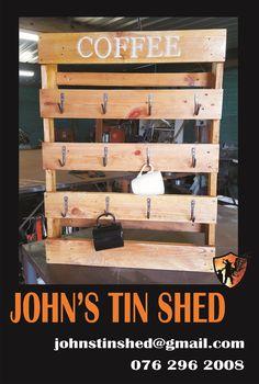 Coffee Mug Holder Coffee Mug Holder, Tin Shed, How To Remove Rust, Custom Woodworking, Wine Rack, Wood Crafts, Restoration, Mugs, Storage