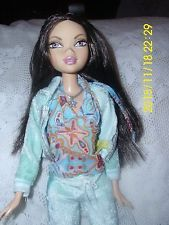 """MATTEL MY SCENE DOLL FEMALE """"NOLEE""""  PAJAMA'S BUNNY HOUSE SHOES  CLEAN NICE HAIR"""
