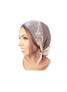 Hey, I found this really awesome Etsy listing at https://www.etsy.com/listing/245164618/taupe-head-scarf-pink-lace-snoods-wrap