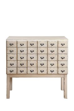 LOVE the idea of an antique library card cabinet!  OH the jewelry I could put in here.