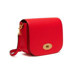 945d56a0851c Mulberry - Small Darley Satchel in Small Classic Grain in Fiery Red