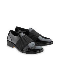 1efbbac29bf ANGULUS AW14 Womens Shoes with elastic band Style 3509 Black Shiny Leather