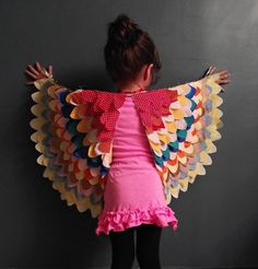 Lovely fabric play wings *Link to tutorial #sewing #fabric #tutorial