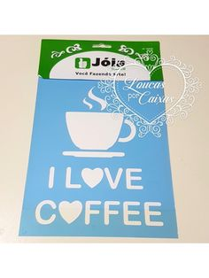 STENCIL I LOVE COFFEE - 15 X 20