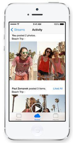 iOS 7 - iCloud Photo Sharing