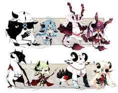 [CLOSED] ADOPT AUCTION 146 - Shadowmonsters by Piffi-adoptables.deviantart.com on @DeviantArt