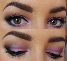 purple/blue eye makeup