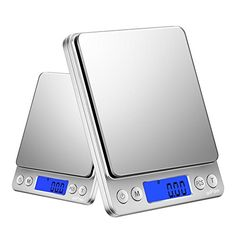 aiPao Digital Kitchen food scale with BackLit LCD Display Tare Hold and PCS Features 3000 x 2 Lids Included Digital Pocket Scale, Digital Scale, Digital Kitchen Scales, Weighing Scale, Food Scale, Vacuum Flask, Mini Kitchen, Stainless Steel Material, Kitchen Supplies