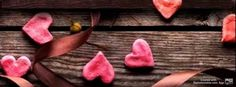 Hearts and ribbon  - facebook cover photo, fb covers