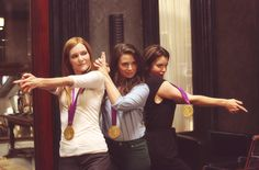 Darby Stanchfield (Abby), Katie Lowes (Quinn), and Bellamy Young (Mellie)