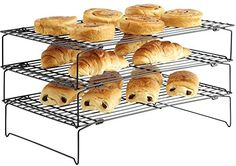 3 Tier Cake Cooling RackAn essential tool for any baker, the Top Home Solutions 3 tier cooling rack creates a large surface area for cooling your scones, biscuits and muffins when they come out of the oven.Made from metal wire with a black non-stick coating, the rack features collapsible stands for compact storage. For