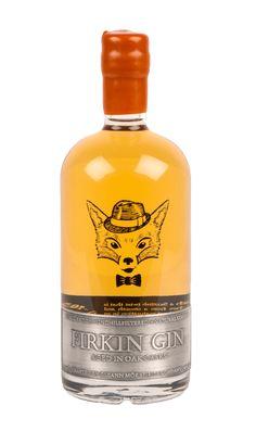 firkin gin transparent bottle