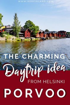 Porvoo Finland, is famous for its adorable old town and mouthwatering almond cakes. Here's what to do in Porvoo and how to get there from Helsinki! Helsinki Things To Do, Finland Facts, Finland Destinations, Finland Summer, Finnish Language, Visit Helsinki, Finland Travel, Summer Scenes, Little River