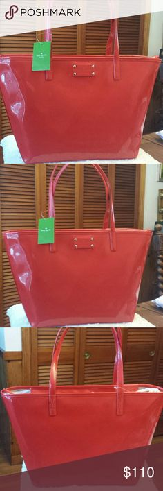 97debd1be075 Kate Spade NWT Chili Red Harmony Tote Kate Spade NWT Small Harmony Chili  Red Tote